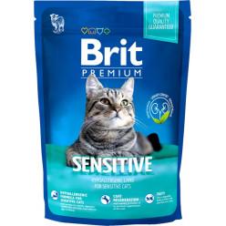 Сухий корм BRIT PREMIUM SENSITIVE для котів з чутливим травленням, 1,5кг