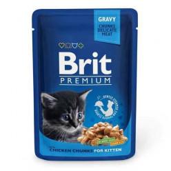 BRIT PREMIUM для кошенят з куркою, 85г