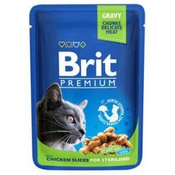 BRIT PREMIUM для стерилізованих котів з куркою, 85г