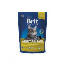 Сухий корм BRIT PREMIUM з лососем для дорослих котів, 800г