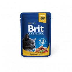 BRIT PREMIUM з лососем та форелью, 85г