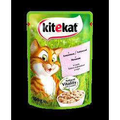 UA KITEKAT™.З лососемв соусі. Повнораціонний консервований корм для дорослих котів.