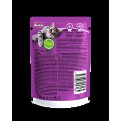 З індичкоюв соусі UA Whiskas® Повнораціонний консервований корм для дорослих котів.