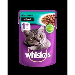 З кроликомв соусі  UA Whiskas® Повнораціонний консервований корм для дорослих котів.