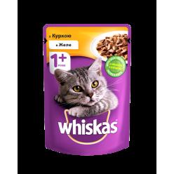 З куркою в желе WHISKAS® Повнораціонний консервований корм для дорослих котів.