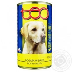 Консерва TEO для собак з куркою, 1,2кг