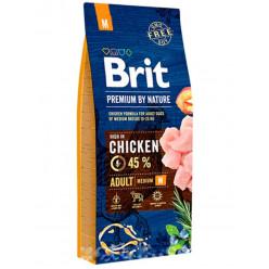 Корм BRIT PREMIUM М для дорослих собак з куркою (ціна вказана за 100г)