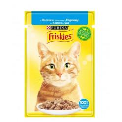 Вологий корм FRISKIES для котів з лососем, 85г