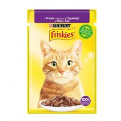 Вологий корм FRISKIES для котів з ягням, 85г
