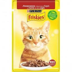 Вологий корм FRISKIES для котів з яловичиною, 85г