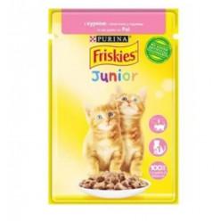 Вологий корм FRISKIES для кошенят з куркою, 85г