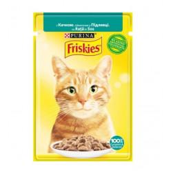 Вологий корм FRISKIES для котів з качкою, 85г