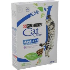 Корм CAT CHOW (Кет Чау) 3в1, зі смаком індички, 400г